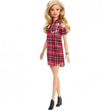Barbie Fashionistas Büyüleyici Parti Bebekleri Love Ekoseli Elbise