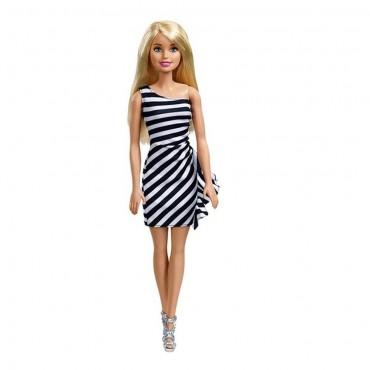 Barbie Moda Güzelleri Siyah Beyaz Elbiseli