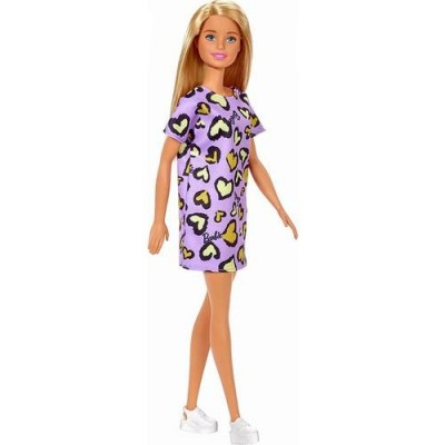 Barbie Şık Barbie Mor Kalpli Elbiseli
