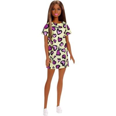 Barbie Şık Barbie Sarı Kalpli Elbiseli