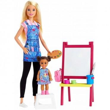 Barbie ve Meslekleri Oyun Setleri Resim Öğretmeni Sarı Saçlı