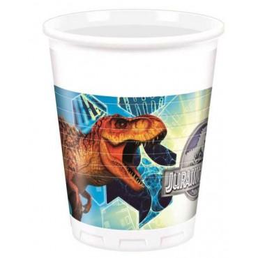 Doğum Günü Jurassic World Lisanslı Bardak 8 li