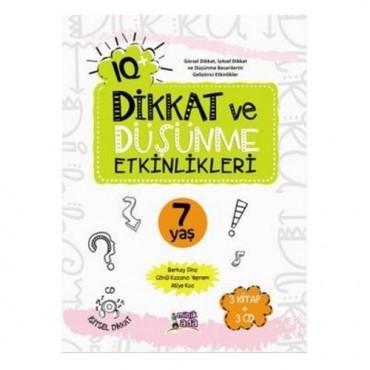 Dikkat ve Düşünme Etkinlikleri 7 yaş 3 kitap 3 cd