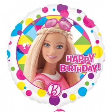 """Folyo Balon Barbie Lisanslı 18"""" 43cm"""