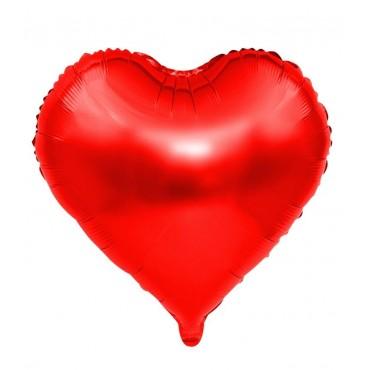 """Folyo Balon Kalp Kırmızı 22"""" 60cm"""