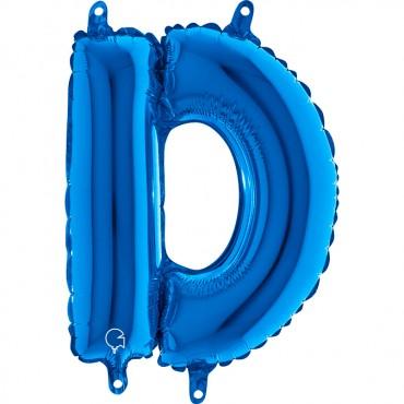 Folyo Harf Balon D Mavi  14 İnç 35  Cm