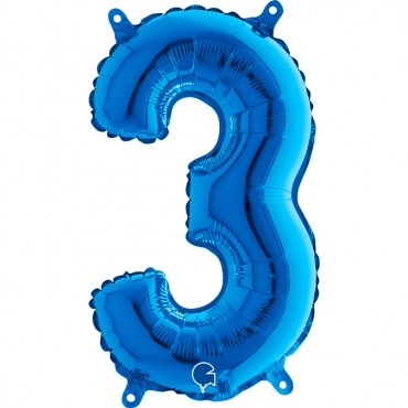 Folyo Rakam Balon 4 Mavi 14 İnç 35 Cm