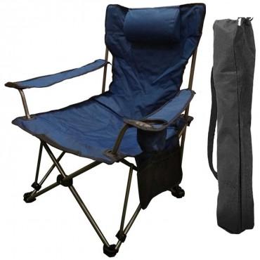 Funky Chaırs Lazy 2 Pozisyonlu Yatabilen Lacivert Kamp Sandalyesi