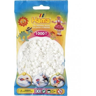 Hama Midi Boncuk 1.000'lik - Beyaz