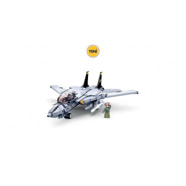Sluban Lego 404 Parça F14 Uçak Model Bricks