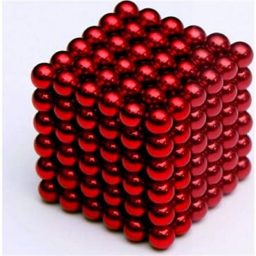 Nts Renkli Manyetik Mıknatıs Toplar 5Mm 432 Adet Kırmızı