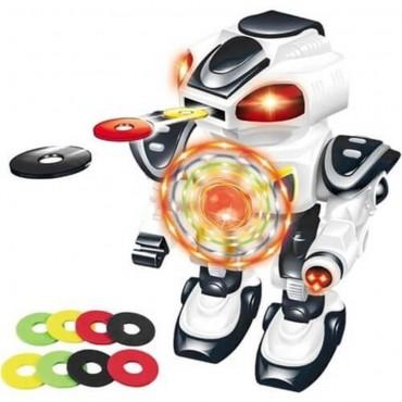 Oyuncak Robot Müzikli Işıklı Disk Atan