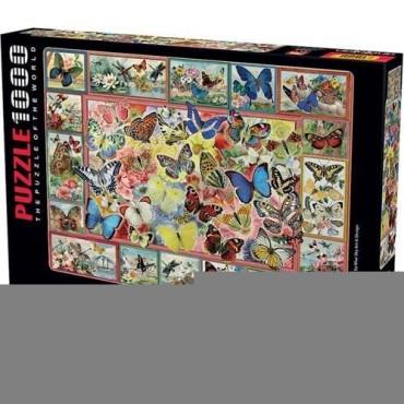 Perre Puzzle 1000 Parça Kelebekler