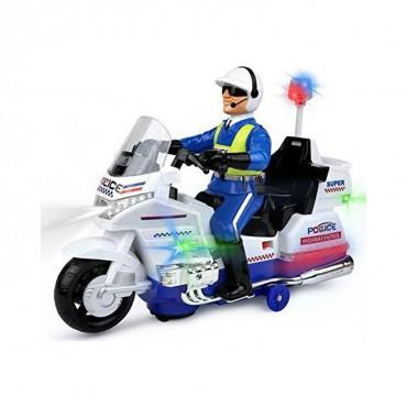 Polis Motorsiklet Işıklı Sesli Pilli Hareketli