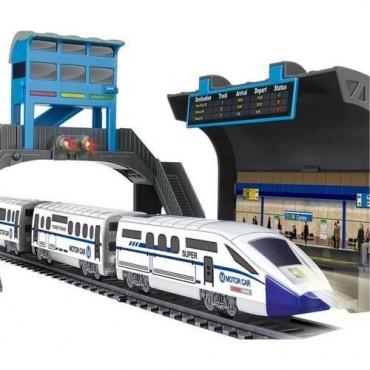 Oyuncak Tren Seti 17 Parça İstasyonlu Işıklı