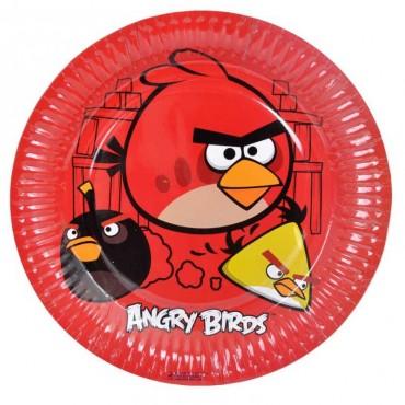 Doğum Günü  Angry Birds Lisanslı Tabak 8 li