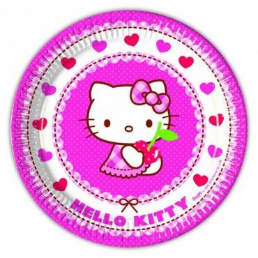 Doğum Günü Hello Kitty Lisanslı Tabak 8 li