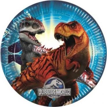 Doğum Günü Tabak Jurassic World 8'li