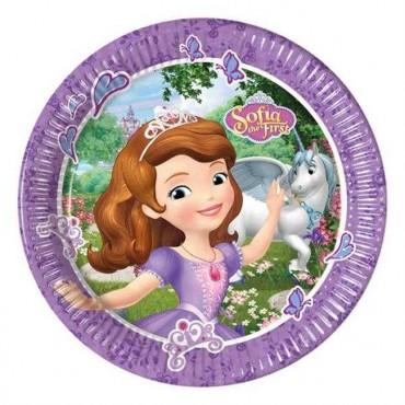 Doğum Günü Sofia Lisanslı Tabak 8 li