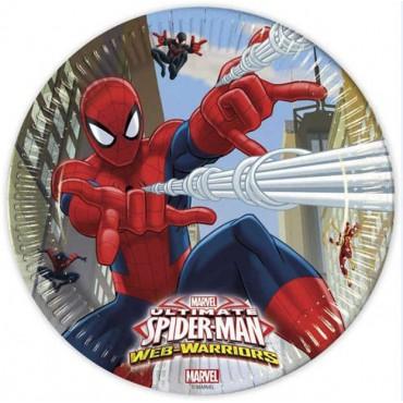 Doğum Günü Spiderman Lisanslı Tabak 8 li