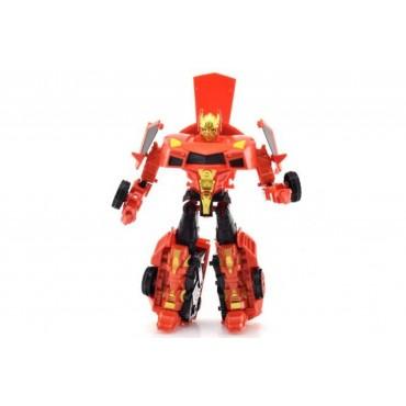 Oyuncak Dönüşen Robot Araba Kırmızı 19 cm